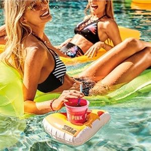 Vs pink cup holder floatie and cup